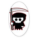 Grim Reaper Oval Sticker (50 pk)