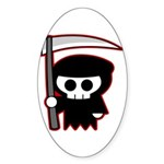Grim Reaper Oval Sticker