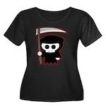 Grim Reaper Women's Plus Size Scoop Neck Dark T-Sh