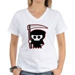 Grim Reaper Women's V-Neck T-Shirt
