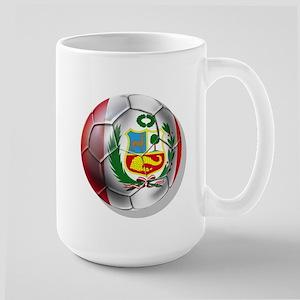 Peru Futbol Large Mug Mugs