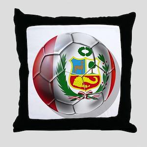 Peru Futbol Throw Pillow
