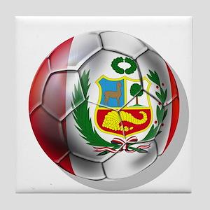 Peru Futbol Tile Coaster