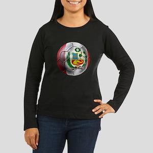 Peru Futbol Women's Long Sleeve Dark T-Shirt