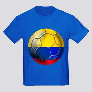 Colombian Soccer Futbol Kids Dark T-Shirt