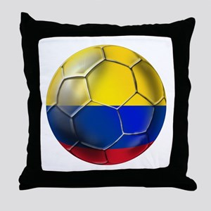 Colombian Soccer Futbol Throw Pillow