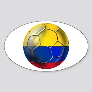 Colombian Soccer Futbol Sticker (Oval)
