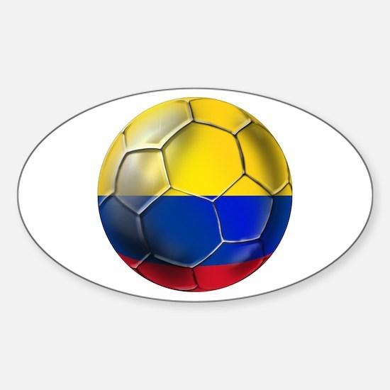 Colombian Soccer Futbol Sticker (Oval)