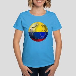 Colombian Soccer Futbol Women's Dark T-Shirt