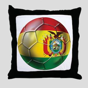 Bolivia Futbol Throw Pillow