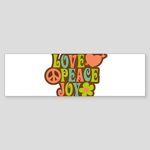 Love Peace Joy Bumper Sticker