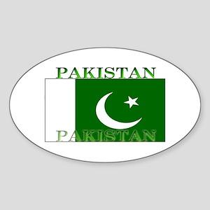 Pakistan Pakistani Flag Oval Sticker