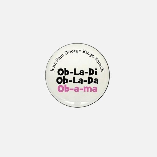 Beatles Fans for Obama Ob-la-di mini button