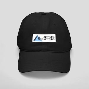Altitude Not Attitude Black Cap with Patch