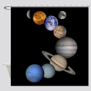Our Solar System planets Shower Curtain