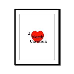 I Love North Carolina! Framed Panel Print