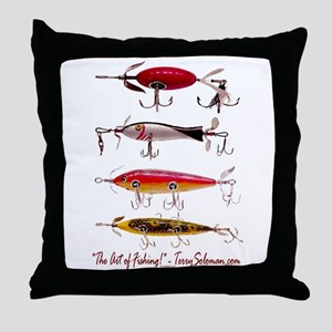 Fish, Fishing, Lure Throw Pillow
