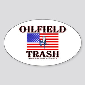 American Oilfield Trash Oval Sticker