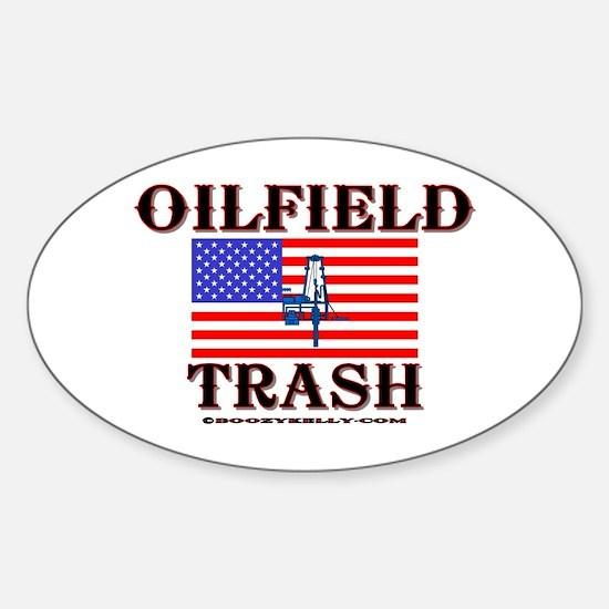American Oilfield Trash Oval Decal