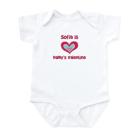 Sofia Is Daddy's Valentine Infant Bodysuit