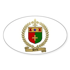 BOURG Family Crest Oval Decal