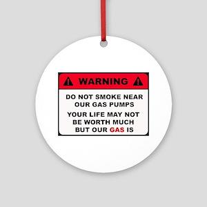 Warning- Gas Ornament (Round)