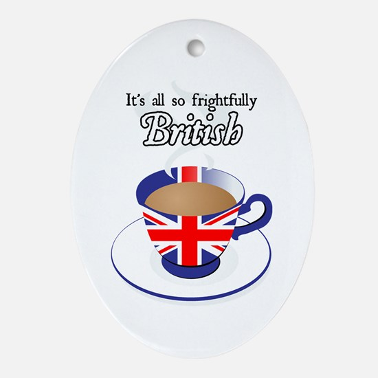 All Frightfully British Oval Ornament