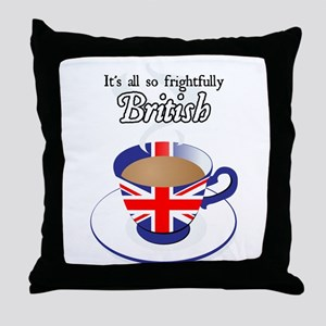 All Frightfully British Throw Pillow