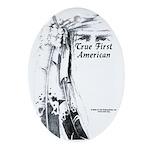 True First American Oval Ornament