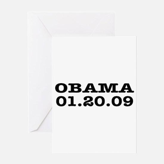 Obama Last Day January 20 2009 Greeting Card