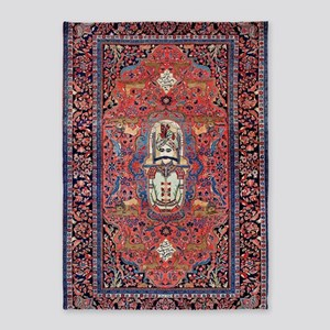 Antique Persian Rug 5'x7'area Rug