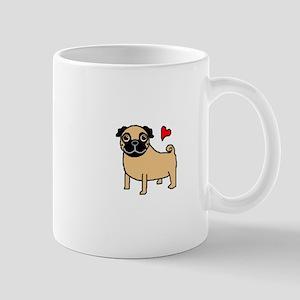 Fawn Pug Love Mug