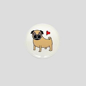 Fawn Pug Love Mini Button