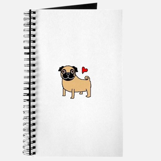 Fawn Pug Love Journal