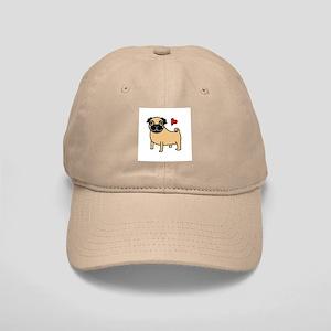 Fawn Pug Love Cap