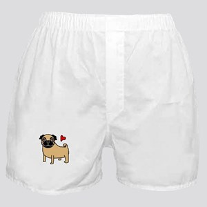 Fawn Pug Love Boxer Shorts