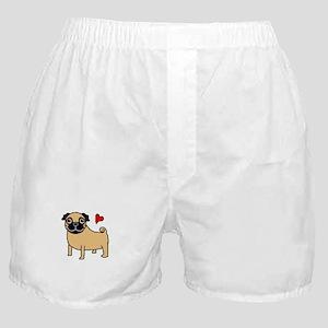 Fawn Pug Love Boxer Shorts