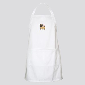 Fawn Pug Love BBQ Apron