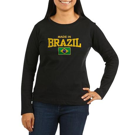 Made in Brazil Women's Long Sleeve Dark T-Shirt