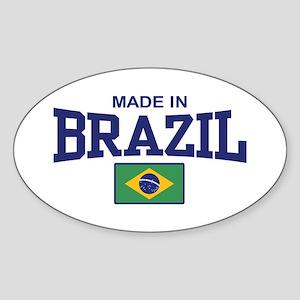 Made in Brazil Oval Sticker