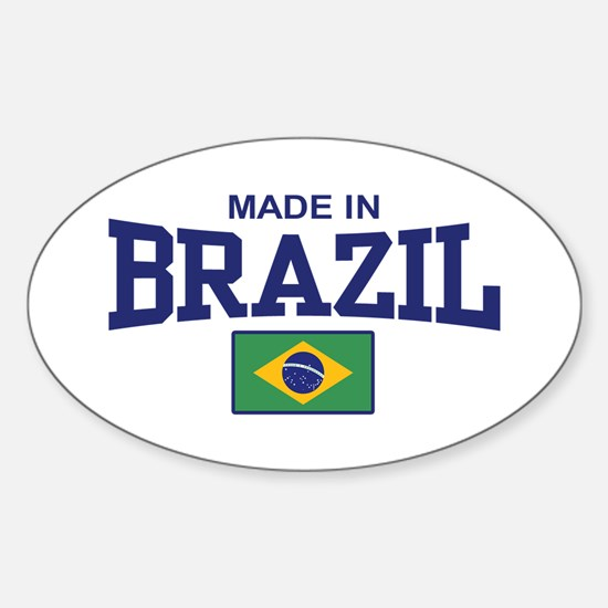 Made in Brazil Oval Decal