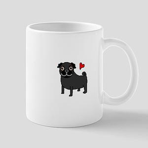 Black Pug Love Mug