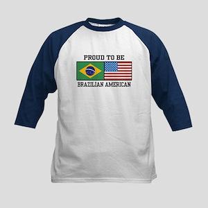 Proud Brazilian American Kids Baseball Jersey
