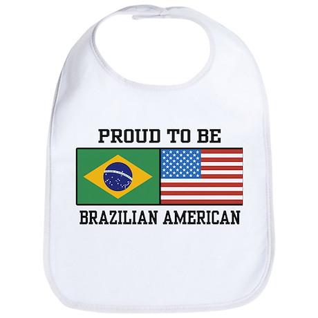 Proud Brazilian American Bib