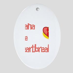 Alana the Heartbreaker Oval Ornament