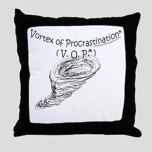 Vortex of Procrastination Throw Pillow