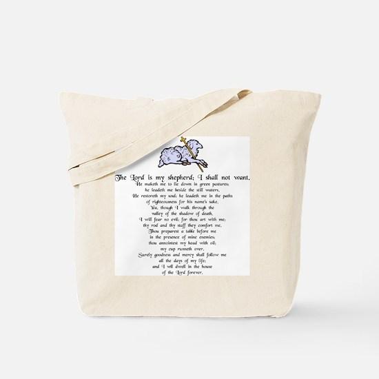 """""""Lord is My Shepherd"""" Tote Bag"""