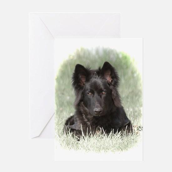 Long Coated German Shepherd Greeting Card