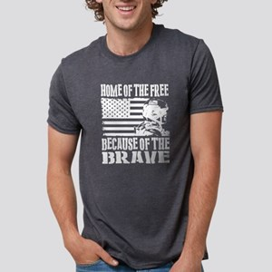 Home of the Free Because of the Brave - US T-Shirt