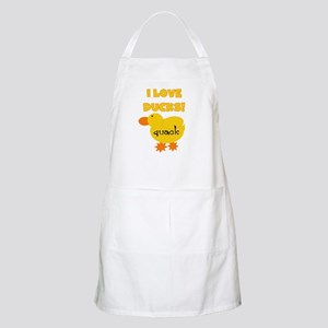 I Love Ducks BBQ Apron